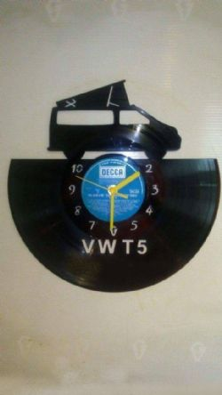 VW T5 Vinyl Record Clock