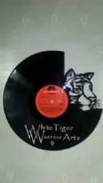 White Tigers Warrior Arts Vinyl Record Clock