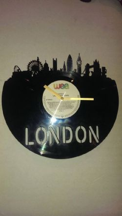 London Skyline Vinyl Record Clock