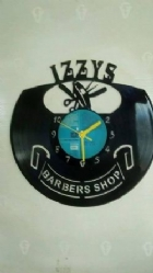 Custom IZZY's Barber Vinyl Record Clock