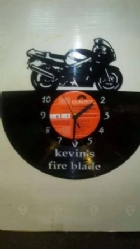 Custom Fire Blade Vinyl Record Clock
