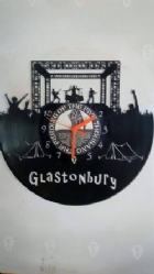 Glastonbury Vinyl Record Clock