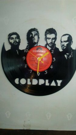 ColdPlay Vinyl Record Clock