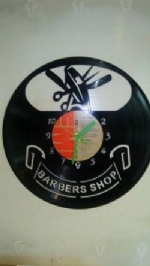 Barbers Shop Vinyl Record Clock