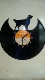 Golden Retriever Vinyl Record Clock