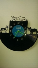 French Bulldogs 3 Vinyl Record Clock