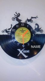 Crosser Bikes 4 Personalised Vinyl Record Clock