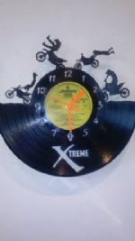 Crosser Bikes 4 Vinyl Record Clock