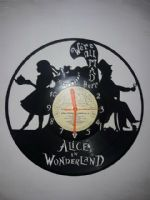 Alice In Wonderland New Vinyl Record Clock