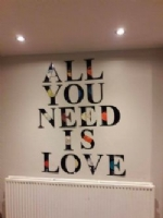 All You Need Is Love Vinyl Record Clock