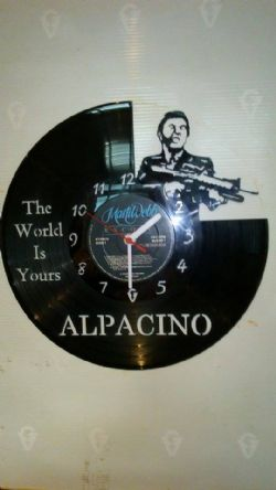 Al Pacino Scar Face Film Vinyl Record Clock