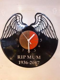 Angel Wings Personalised Themed Vinyl Record Clock