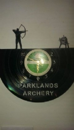 Archery Themed Vinyl Record Clocks