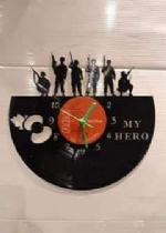 Army Poppy Themed Vinyl Record Clock