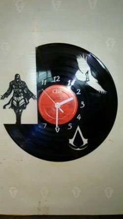 Assassins Creed Vinyl Record Clock