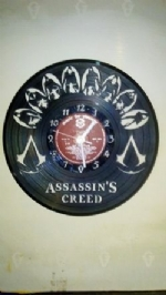 Assassins Creed Men Themed Vinyl Record Clock