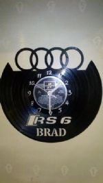 Audi Rs 6 Car Logo Personalised Vinyl Record Clock