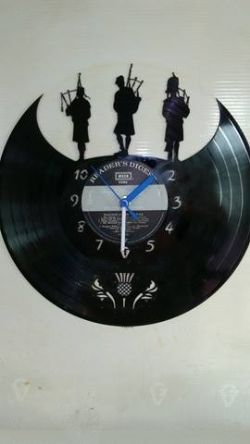 Bagpipers Vinyl Record Clock
