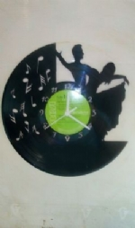 Ballroom Dancers Themed Vinyl Record Clock