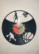Basket Ball Game Themed Vinyl Record Clock
