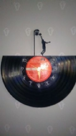 Basket Ball Vinyl Record Clock
