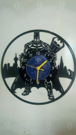 Batman Skyline Vinyl Record Clock