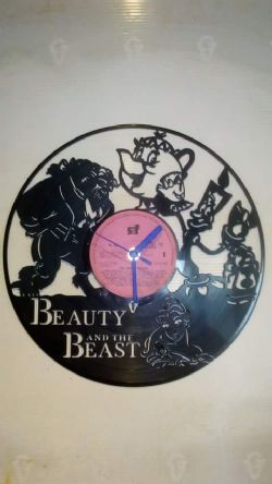 Beauty And The Beast, Belle Themed Vinyl Record Clock