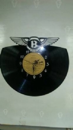 Bentley Logo Vinyl Record Clock