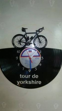 Bike Scotts Addict Vinyl Record Clock