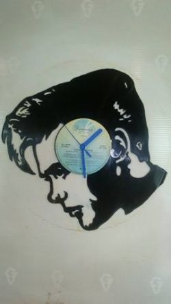 Billy Fury Face Themed Vinyl Record Clock
