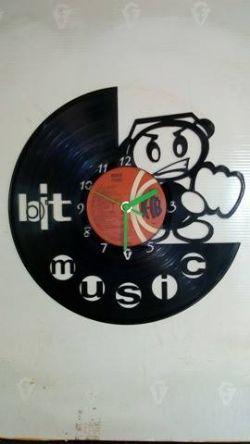 Bit Music Vinyl Record Clock