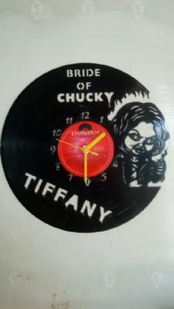 Bride Of Chucky Tiffany Vinyl Record Clock