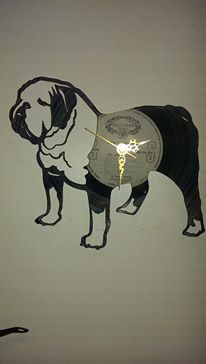 British Bulldog Vinyl Record Clock