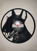 English Bull Terrier Full Face Themed Vinyl Record Clock