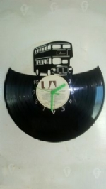 Bus Vinyl Record Clock