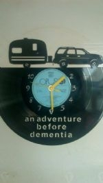 Car and Caravan Vinyl Record Clock