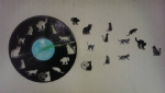 Cats Vinyl Record Clock