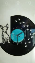 Chihuahua Dog Sitting Vinyl Record Clock