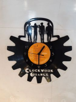 Clockwork Orange Vinyl Record Clock