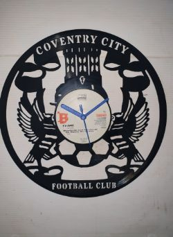 Coventry City Fc Themed Vinyl Record Clock