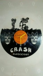 Crash Bandicoot Vinyl Record Clock