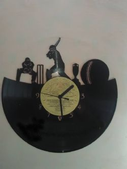 Cricket Themed Vinyl Record Clock