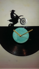 Crosser Bike Vinyl Record Clock