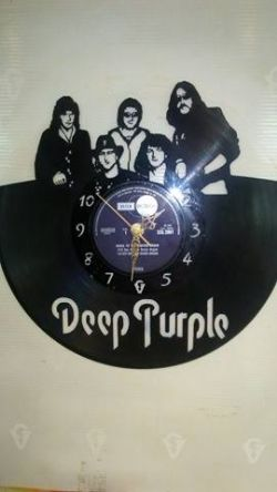 Deep Purple Vinyl Record Clock