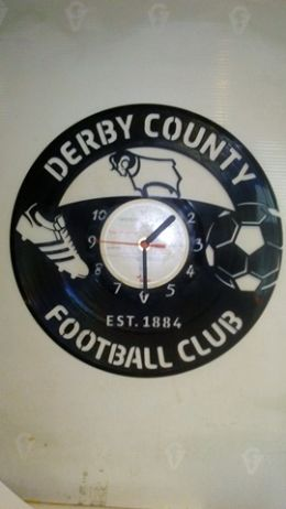 Derby County Fc Vinyl Record Clock