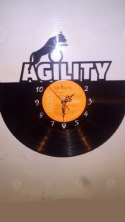 Dog Agility Vinyl Record Clock