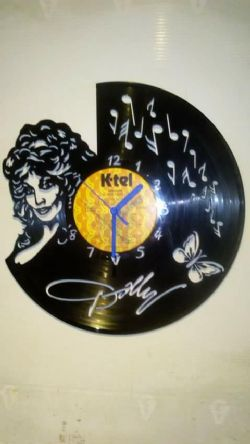 Dolly Parton Vinyl Record Clock