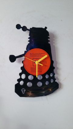 Dr Who Dalek Vinyl Record Clock