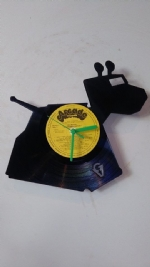 Dr Who K9 Dog Vinyl Record Clock