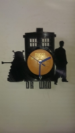 Dr Who Vinyl Record Clock